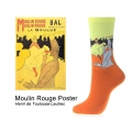 "Calcetines Arte Toulouse Lautrec ""Moulin Rouge"""