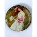"Broche arte John William Waterhouse ""Windflowers"""