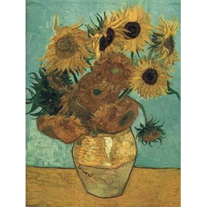 "Tarjetero simple Vincent Van Gogh ""Los girasoles"""