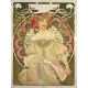 "Tarjetero simple Alphonse Maria Mucha ""The virgin"""