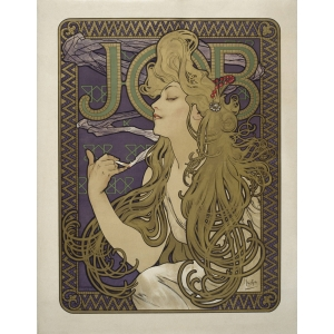 "Tarjetero simple Alphonse Maria Mucha ""Job"""