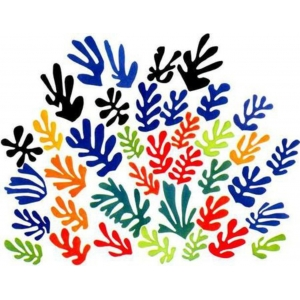 "Reloj escritorio Henri Matisse ""Spray of Leaves"""