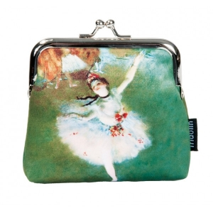 "Monedero arte clip Edgar Degas ""The star"""